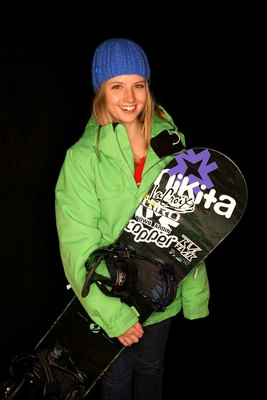 COPPER MOUNTAIN, CO - DECEMBER 01:  Clair Bidez of the US Snowboarding Half Pipe Pro Team poses for a portrait at Woodward at Copper on December 1, 2009 in Copper Mountain, Colorado.  (Photo by Doug Pensinger/Getty Images)