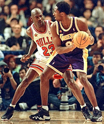 Who would win an NBA Finals series between Jordan's Bulls & Kobe / Shaq's Lakers? Photo
