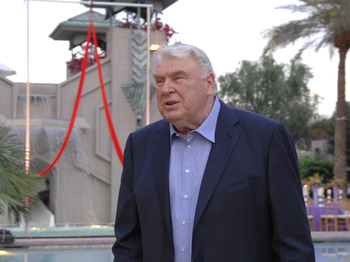 Television commentator John Madden  at  the NFL's 2007 annual meeting in Phoenix, Arizona on March 26, 2007.  (Photo by Al Messerschmidt/Getty Images)