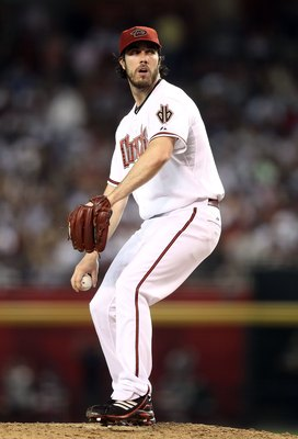 PHOENIX - JUNE 22:  Starting pitcher Dan Haren #15 of the Arizona Diamondbacks pitches against the New York Yankees during the Major League Baseball game at Chase Field on June 22, 2010 in Phoenix, Arizona. The Yankees defeated the Diamondbacks 9-3.  (Pho