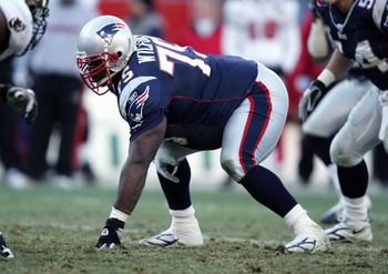 FOXBORO, MA - DECEMBER 17:  Vince Wilfork #75 of the New England Patriots lines up during the NFL game with the Tampa Bay Buccaneers on December 17, 2005 at Gillette Stadium in Foxboro, Massachusetts. The Patriots defeated the Bucs 28-0. (Photo by Al Bell