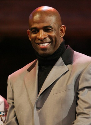 NEW ORLEANS - FEBRUARY 17:  Athlete/television personality Deion Sanders at the 57th NBA All-Star Game, part of 2008 NBA All-Star Weekend at the New Orleans Arena on February 17, 2008 in New Orleans, Louisiana.  NOTE TO USER: User expressly acknowledges a
