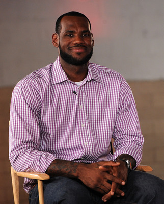 GREENWICH, CT - JULY 08:  LeBron James speaks at the LeBron James announcement of his future NBA plans at the Boys & Girls Club of America on July 8, 2010 in Greenwich, Connecticut. James announced during a live broadcast on ESPN that he will play for the