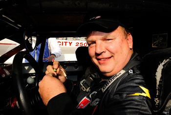 BRISTOL, TN - MARCH 21:  Jimmy Spencer prepares to drive during the NASCAR Legends UARA Race at Bristol Motor Speedway on March 21, 2009 in Bristol, Tennessee.  (Photo by Rusty Jarrett/Getty Images for NASCAR)