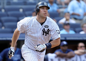 NEW YORK - JULY 18:  Mark Teixeira #25 of the New York Yankees in action against the Tampa Bay Rays on July 18, 2010 at Yankee Stadium in the Bronx borough of New York City. The Yankees defeated the Rays 9-5.  (Photo by Jim McIsaac/Getty Images)
