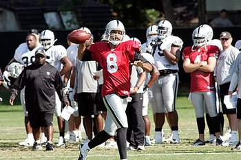 Jason Campbell, throwing on the run.