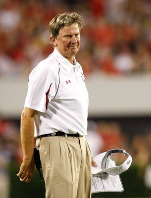 ATHENS, GA - SEPTEMBER 12:  Head coach Steve Spurrier of the South Carolina Gamecocks against the Georgia Bulldogs at Sanford Stadium on September 12, 2009 in Athens, Georgia.  (Photo by Kevin C. Cox/Getty Images)