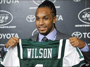 Wilson was selected in the first round by the blitz-happy Jets.