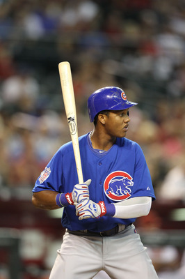 PHOENIX - JULY 05:  Starlin Castro #13 of the Chicago Cubs bats against the Arizona Diamondbacks during the Major League Baseball game at Chase Field on July 5, 2010 in Phoenix, Arizona.  (Photo by Christian Petersen/Getty Images)