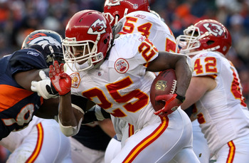 Jamaal Charles ran away from the league in the second half last year, this season he gets some help