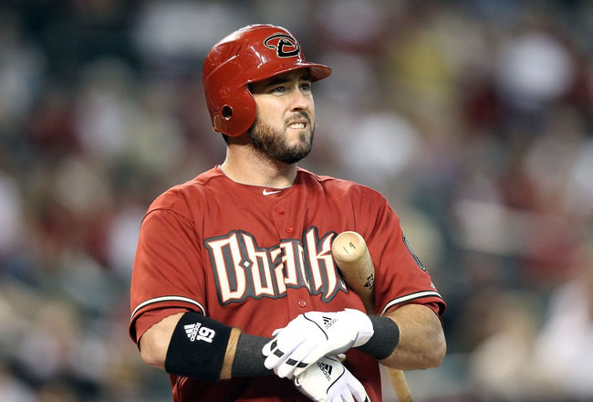 PHOENIX - AUGUST 08:  Ryan Church #19 of the Arizona Diamondbacks at bat during the Major League Baseball game against the San Diego Padres at Chase Field on August 8, 2010 in Phoenix, Arizona.  (Photo by Christian Petersen/Getty Images)