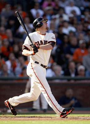 Aubrey Huff ranks sixth in the National League in OPS.