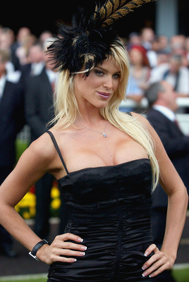 SYDNEY, AUSTRALIA - APRIL 12: Supermodel Victoria Silvstedt poses at the San Miguel Easter Carnival at Royal Randwick April 12, 2004 in Sydney, Australia. (Photo by Jon Buckle/Getty Images)