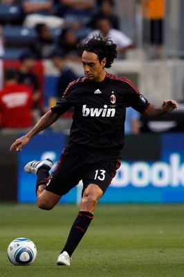 CHICAGO - MAY 30:  Alessandro Nesta #13 of AC Milan kicks the ball while taking on the Chicago Fire during an international friendly at Toyota Park on May 30, 2010 in Chicago, Illinois.  (Photo by Jonathan Daniel/Getty Images)