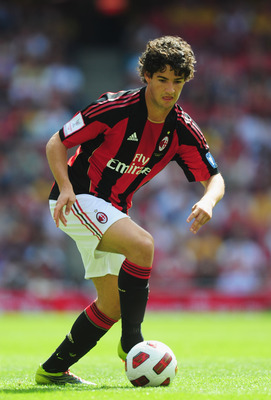 LONDON, ENGLAND - AUGUST 01:  Pato of AC Milan in action during the Emirates Cup match between AC Milan and Lyon at Emirates Stadium on August 1, 2010 in London, England.  (Photo by Mike Hewitt/Getty Images)