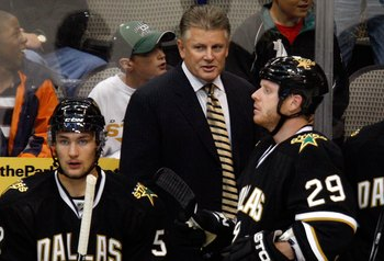 DALLAS - SEPTEMBER 16:  Head coach Marc Crawford of the Dallas Stars at American Airlines Center on September 16, 2009 in Dallas, Texas.  (Photo by Ronald Martinez/Getty Images)