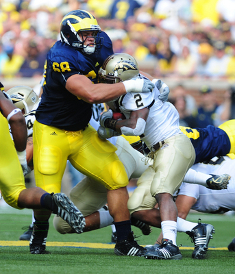 Junior Mike Martin leads the Wolverines defensive linemen.