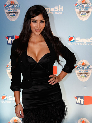 TAMPA, FL - JANUARY 29:  TV Personality Kim Kardashian poses at the NFL Pepsi Smash Super Bowl Concert held at the Ford Amphitheatre at the Florida State Fairgrounds on January 29, 2009 in Tampa, Florida.  (Photo by Kevin C. Cox/Getty Images for NFL)