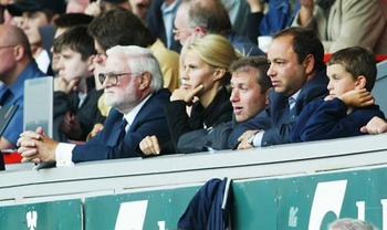 Abramovich Watches His First Match as Chelsea Owner with Ken Bates