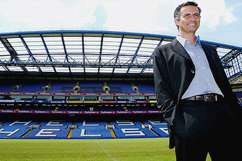 The self-proclaimed Special One arrives at Stamford Bridge