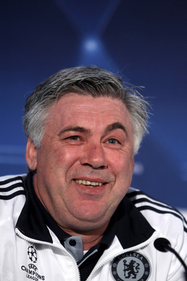 LONDON, ENGLAND - MARCH 15:  Carlo Ancelotti Manager of Chelsea during a press conference ahead of their UEFA Champions League game against Inter Milan on March 15, 2010 at Stamford Bridge London, England.  (Photo by Phil Cole/Getty Images)