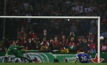 Chelsea's John Terry Misses the Penalty in the Champions League 2008 Final