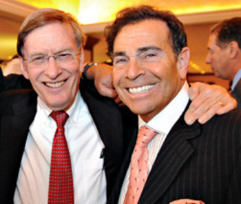 Dennis Gilbert (right) pictured with MLB Commissioner Bud Selig