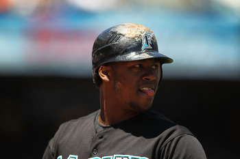 SAN FRANCISCO - JULY 29:  Hanley Ramirez #2 of the Florida Marlins looks on against the San Francisco Giants during an MLB game at AT&amp;T Park on July 29, 2010 in San Francisco, California.  (Photo by Jed Jacobsohn/Getty Images)