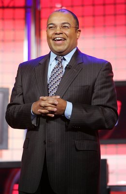 LAS VEGAS - JANUARY 08:  ESPN 'Monday Night Football' announcer Mike Tirico speaks during a keynote address by The Walt Disney Co. President and CEO Robert Iger at the Venetian during the 2007 International Consumer Electronics Show January 8, 2007 in Las