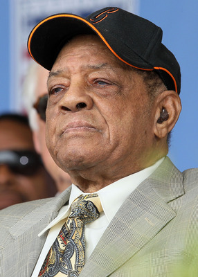 COOPERSTOWN, NY - JULY 25:  Baseball icon Willie Mays attends the Baseball Hall of Fame induction ceremony at Clark Sports Center on July 25, 20010 in Cooperstown, New York.  (Photo by Jim McIsaac/Getty Images)