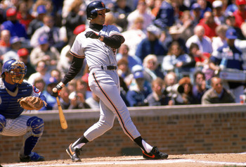 CHICAGO - 1989:  Will Clark #22 of the San Francisco Giants swings during a 1989 season game against the Chicago Cubs at Wrigley Field in Chicago, Illinois. (Photo by Jonathan Daniel/Getty Images)