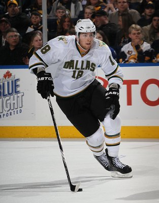 BUFFALO, NY - MARCH 10: James Neal #18 of the Dallas Stars skates against  the Buffalo Sabres at the HSBC Arena on March 10, 2010 in Buffalo, New York.  (Photo by Bruce Bennett/Getty Images)