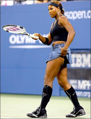"""... plenty of so-called """"outrageous outfits"""" worn at the U.S. Open"""