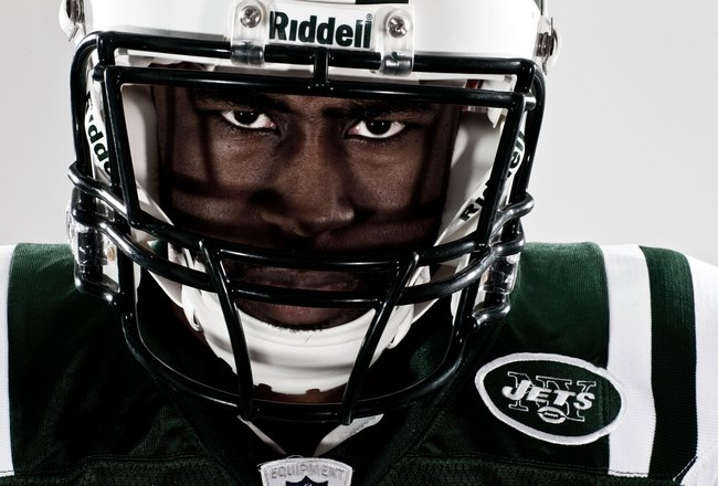 NEW YORK, NY - MARCH 16:  New York Jets Darrelle Revis poses for a portrait on March 16, 2010 in New York, New York.  (Photo by Chris McGrath/Getty Images)