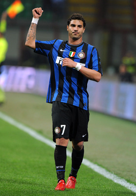 MILAN, ITALY - MARCH 24: Ricardo Quaresma of FC Internazionale Milano gestures during the Serie A match between FC Internazionale Milano and AS Livorno Calcio at Stadio Giuseppe Meazza on March 24, 2010 in Milan, Italy.  (Photo by Massimo Cebrelli/Getty I