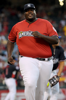 ANAHEIM, CA - JULY 11:  Actor Quinton Aaron during the MLB All Star Game Celebrity Softball Game at Angels Stadium of Anaheim on July 11, 2010 in Anaheim, California.  (Photo by Michael Buckner/Getty Images)