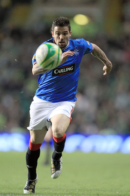 GLASGOW, UNITED KINGDOM - MAY 04:  Nacho Novo of Rangers during the Clydesdale Bank Scottish Premier League match between Celtic and Rangers at Celtic Park, on May 4, 2010 in Glasgow, Scotland.  (Photo by David Cannon/Getty Images)