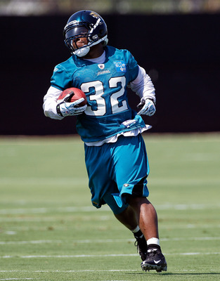 JACKSONVILLE, FL - JULY 30:  Maurice Jones-Drew 32 of the Jacksonville Jaguars during the first day of Training Camp at EverBank Field on July 30, 2010 in Jacksonville, Florida.  (Photo by Sam Greenwood/Getty Images)