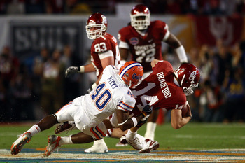 Brandon Hicks enjoys introducing quarterbacks to the finer things in life like BCS bowl turf