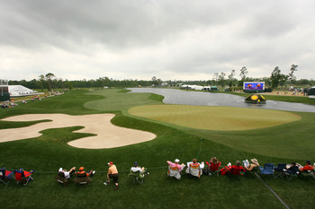 HUMBLE, TX - APRIL 4: A scenic view of the 18th hole during the final round of the Shell Houston Open at Redstone Golf Club on April 4, 2010 in Humble, Texas. (Photo by Hunter Martin/Getty Images)