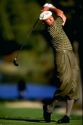 25 Sep 1999:  Payne Stewart of the USA in action during the 33rd Ryder Cup at Brookline Country Club, Boston, Massachusetts, USA. \ Mandatory Credit: Harry How /Allsport