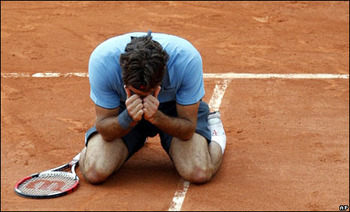 Roger Federer Finally Wins the French Open in 2009.