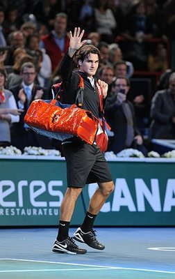 Federer is not accustomed to leaving before the final round.