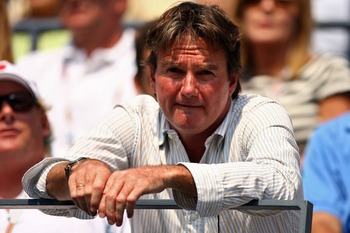 NEW YORK - SEPTEMBER 03:  Andy Roddick's coach Jimmy Connors watchs as he takes on Tomas Berdych of the Czech Republic during day eight of the 2007 U.S. Open at the Billie Jean King National Tennis Center on September 3, 2007 in the Flushing neighborhood