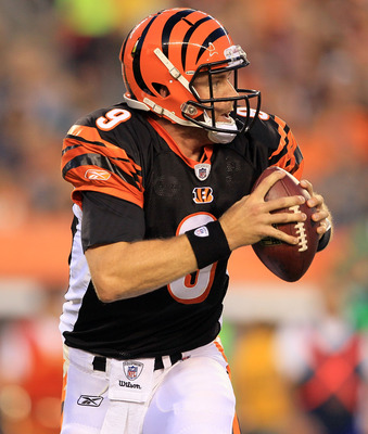 CINCINNATI - AUGUST 20:  Carson Palmer #9 of the Cincinnati Bengals is pictured during the NFL preseason game against the Philadelphia Eagles at Paul Brown Stadium on August 20, 2010 in Cincinnati, Ohio.  (Photo by Andy Lyons/Getty Images)