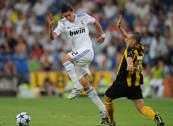 di Maria (left) will bring speed and control to Madrid's wings
