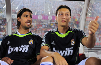 Sami Khedira (left), with his friend (and Germany teammate) Mesut Özil