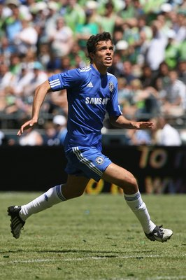 SEATTLE - JULY 18:  Franco Di Santo #9 of Chelsea FC runs during the game against Seattle Sounders FC on July 18, 2009 at Qwest Field in Seattle, Washington. (Photo by Otto Greule Jr/Getty Images)