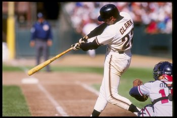 2 Aug 1992:  First baseman Will Clark of the San Francisco Giants swings at the ball during a game against the Atlanta Braves. Mandatory Credit: Otto Greule  /Allsport