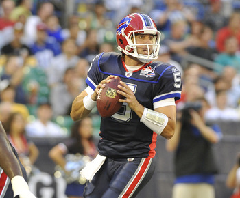 Bills quarterback Trent Edwards